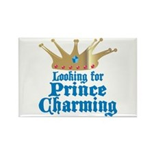 Looking For Prince Charming Rectangle Magnet