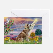 Cloud Angel & Husky Greeting Card