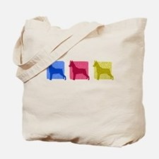 Color Row Miniature Pinscher Tote Bag