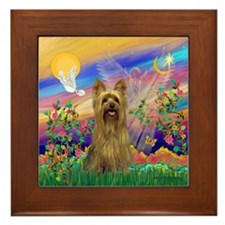 Guardian Angel Silky Terrier Framed Tile