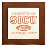 Property of SICU Nurse Framed Tile