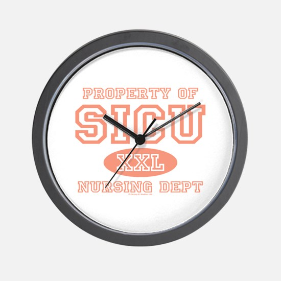 Property of SICU Nurse Wall Clock