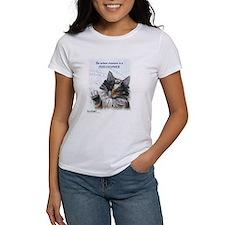 Ideal cat gift wise skogkatt Tee