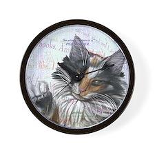 Ideal cat gift wise skogkatt Wall Clock