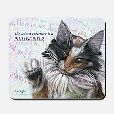 Ideal cat gift wise skogkatt Mousepad
