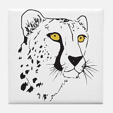 Silhouette Cheetah Tile Coaster