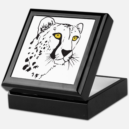 Silhouette Cheetah Keepsake Box