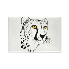 Silhouette Cheetah Rectangle Magnet