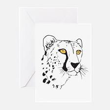 Silhouette Cheetah Greeting Cards (Pk of 20)