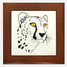 Silhouette Cheetah Framed Tile