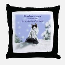 Excellent calm skogkatt Throw Pillow