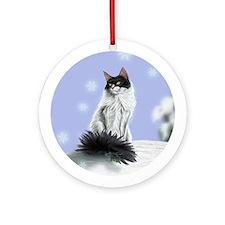 Excellent calm skogkatt Ornament (Round)