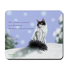 Excellent calm skogkatt Mousepad
