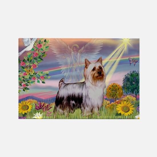 Cloud Angel / Silky Terrier Rectangle Magnet (10 p