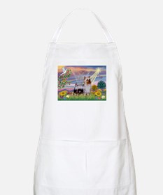 Cloud Angel / Silky Terrier BBQ Apron