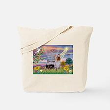 Cloud Angel / Silky Terrier Tote Bag