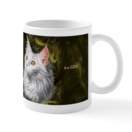 Beautiful mystery cat Mug