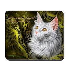 Beautiful mystery cat Mousepad