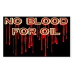 No Blood for Oil Stickers (Rect 10 pk)