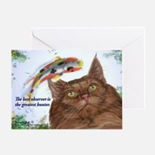 Amazing hunter skogkatt Greeting Card