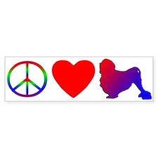 Peace, Love, Lowchen Bumper Bumper Sticker