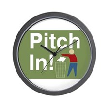 Pitch In Keep America Clean Wall Clock