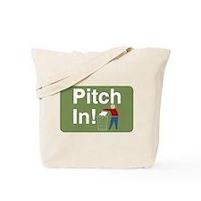 Pitch In Keep America Clean Tote Bag
