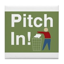 Pitch In Keep America Clean Tile Coaster