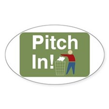 Pitch In Keep America Clean Oval Decal