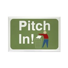 Pitch In Keep America Clean Rectangle Magnet (100