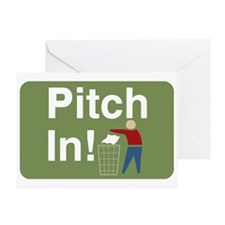 Pitch In Keep America Clean Greeting Card