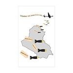 Bombing Democracy Stickers (Rect 50 pk)