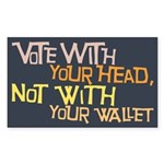 Liberal Voter Stickers (Rect 10 pk)