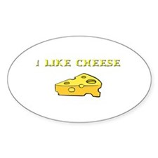 I Like Cheese! Oval Decal