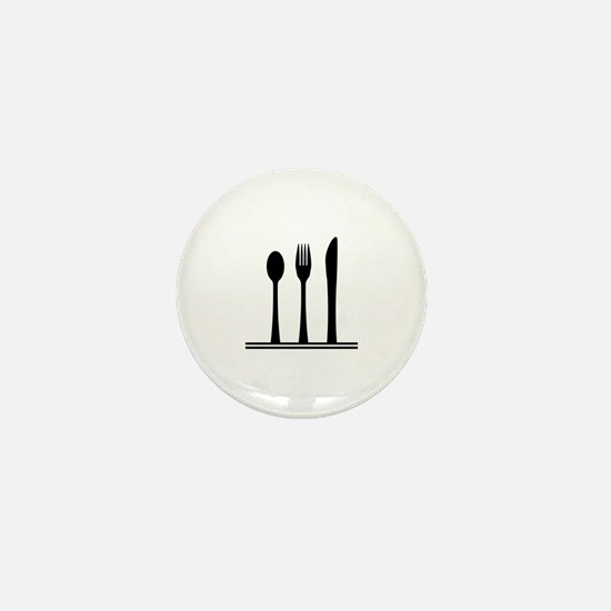 Funny Eating utensils Mini Button