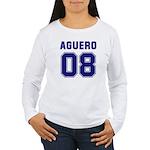 Aguero 08 Women's Long Sleeve T-Shirt