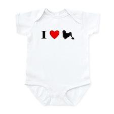 I Heart Lowchen Baby Bodysuit