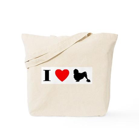 I Heart Lowchen Tote Bag