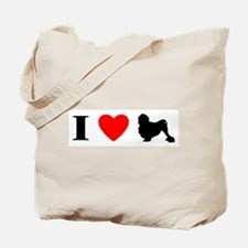 I Heart Lowchen Tote Bag