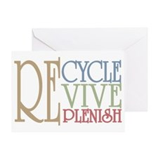 Recycle Revive Replenish Greeting Card
