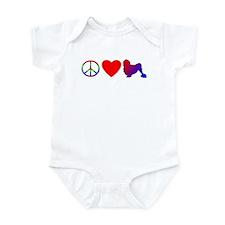 Peace Love Lowchen Baby Bodysuit