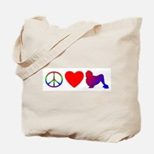 Peace Love Lowchen Tote Bag