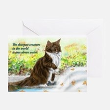 Wonderful sharp skogkatt Greeting Card