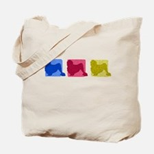 Color Row Lowchen Tote Bag