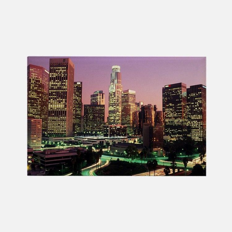 Los Angeles Night Lights Rectangle Magnet