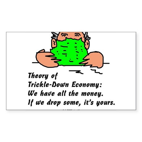 Trickle-Down Rectangle Sticker
