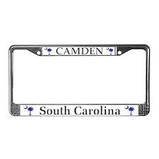 Camden South Carolina License Plate Frame
