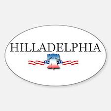 Hilladelphia, Pennsylvania Oval Sticker (10 pk)