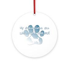 Lancashire Heeler Grandchildren Ornament (Round)