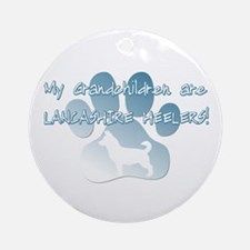 Lancashire Heeler Grandchildren Ornament (Round)